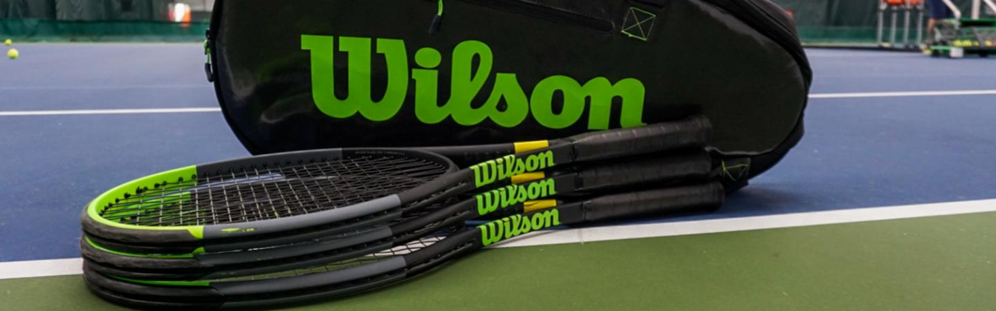 wilson tennis bag and racquets